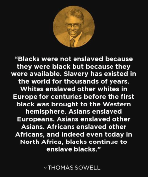 Thomas Sowell on slavery