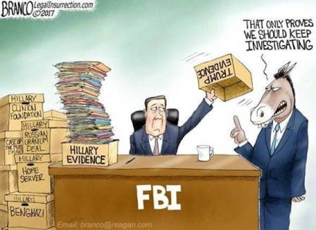 FBI and no evidence on President Trump