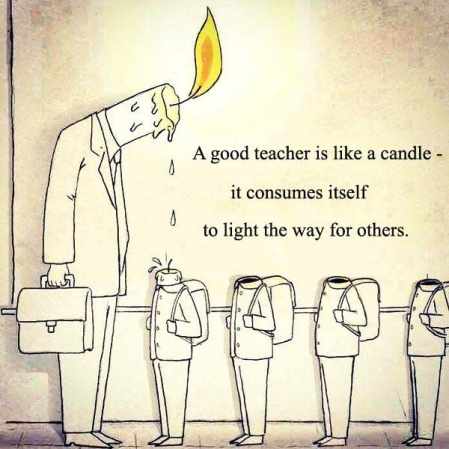 A good teacher is like a candle - it consumes itself to light the way for others