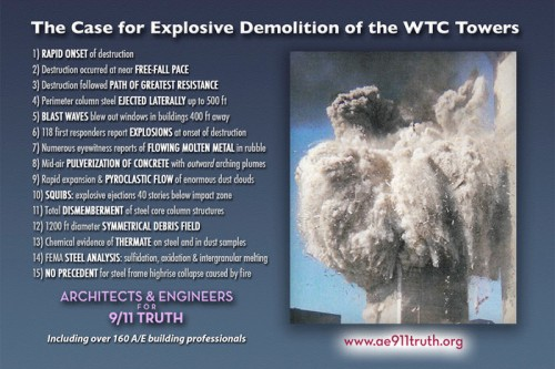 The Case for Explosive Demolition of the WTC Towers