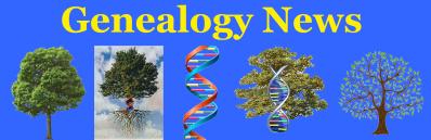 Genealogy News Banner New