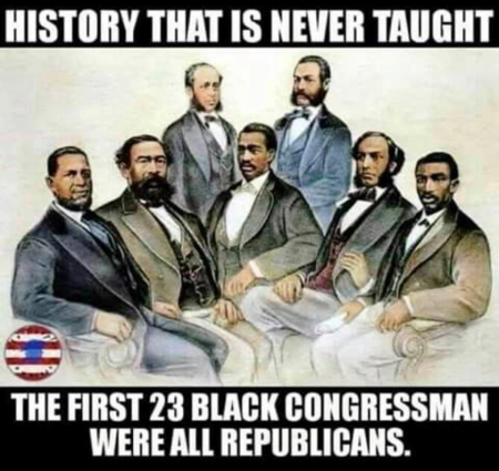First 23 black Congressman were all Republicans