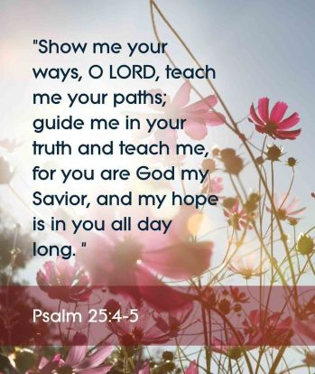 Psalm 25.4-5
