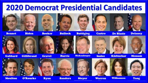 2020 Democrat Presidential Candidates