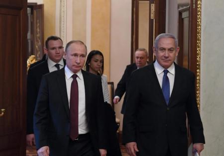 Russian President Vladimir Putin and Prime Minister Benjamin Netanyahu
