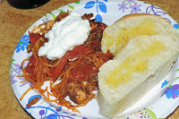 Chicken Paprika with Spaghetti Squash