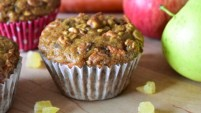 Apple-Carrot and Ginger Muffins