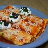 Easy Mashed Potato and Roasted Vegetable Enchiladas